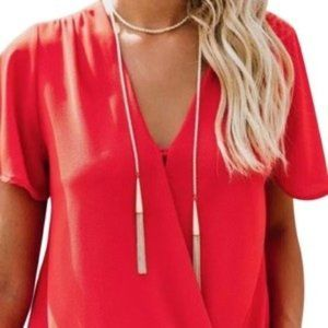 Kendra Scott White Matte Long Tassle Necklace